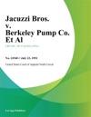 Jacuzzi Bros V Berkeley Pump Co Et Al