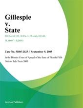 Gillespie V. State