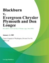 Blackburn V Evergreen Chrysler Plymouth And Don Lougee