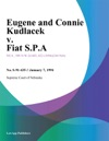 Eugene And Connie Kudlacek V Fiat SPA