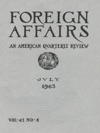 Foreign Affairs - July 1963