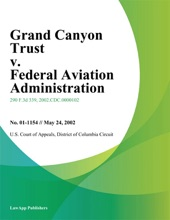Grand Canyon Trust V. Federal Aviation Administration