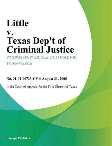 Texas Fourteenth District Court of Appeals - Little v. Texas Dept of Criminal Justice