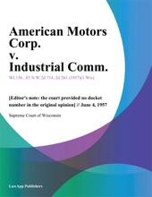 American Motors Corp. V. Industrial Comm.