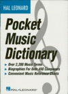 The Hal Leonard Pocket Music Dictionary Music Instruction