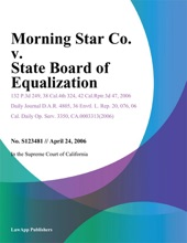 Morning Star Co. V. State Board Of Equalization