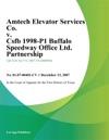 Amtech Elevator Services Co V Csfb 1998-P1 Buffalo Speedway Office Ltd Partnership