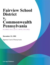 Download and Read Online Fairview School District v. Commonwealth Pennsylvania