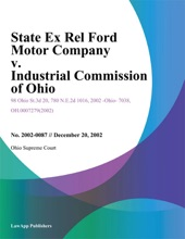 State Ex Rel Ford Motor Company V. Industrial Commission Of Ohio