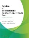 Polston V Boomershine Pontiac-Gmc Truck Inc