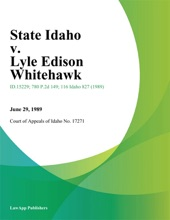State Idaho V. Lyle Edison Whitehawk