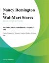 Nancy Remington V Wal-Mart Stores