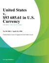 United States V 93 68561 In US Currency