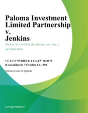 Download and Read Online Paloma Investment Limited Partnership V. Jenkins