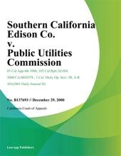 Southern California Edison Co. V. Public Utilities Commission