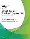 Wiper V Great Lakes Engineering Works