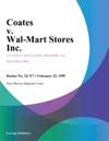Coates V Wal-Mart Stores Inc