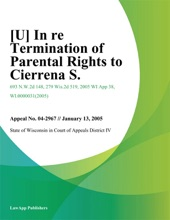 In Re Termination Of Parental Rights To Cierrena S.