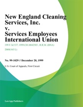 New England Cleaning Services, Inc. v. Services Employees International Union, Local 254
