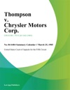 Thompson V Chrysler Motors Corp