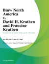 Bmw North America V David H Krathen And Francine Krathen