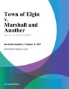 Town Of Elgin V Marshall And Another