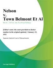 Nelson V. Town Belmont Et Al.