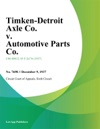 Timken-Detroit Axle Co V Automotive Parts Co