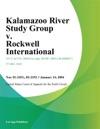 Kalamazoo River Study Group V Rockwell International
