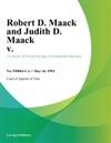 051694 Robert D Maack And Judith D Maack V