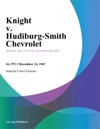 Knight V Hudiburg-Smith Chevrolet