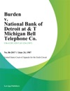 Burden V National Bank Of Detroit At  T Michigan Bell Telephone Co