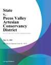 State V Pecos Valley Artesian Conservancy District