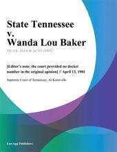 State Tennessee V. Wanda Lou Baker