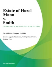 Download Estate Of Hazel Mann V. Smith