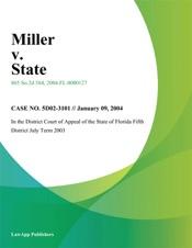 Download and Read Online Miller V. State