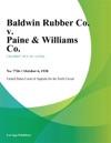 Baldwin Rubber Co V Paine  Williams Co