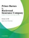 Prince Barnes V Rockwood Insurance Company