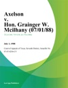 Axelson V Hon Grainger W Mcilhany