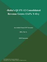 -Rolta's Q1 FY-12 Consolidated Revenue Grows 13.6% Y-O-y