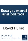 Essays Moral And Political
