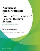 Northwest Bancorporation V. Board Of Governors Of Federal Reserve System