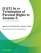 In Re Termination Of Parental Rights To Joeanne F.