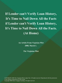 If Lender Can T Verify Loan History It S Time To Nail Down All The Facts If Lender Can T Verify Loan History It S Time To Nail Down All The Facts At Home