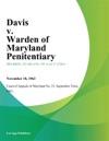 Davis V Warden Of Maryland Penitentiary