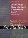 A Study Guide For Dee Browns Bury My Heart At Wounded Knee
