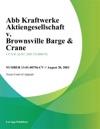 Abb Kraftwerke Aktiengesellschaft V Brownsville Barge  Crane