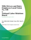 Milk Drivers And Dairy Employees Local Union No 338 V National Labor Relations Board