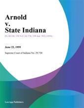 Arnold V. State Indiana
