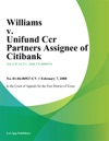 Williams V Unifund Ccr Partners Assignee Of Citibank